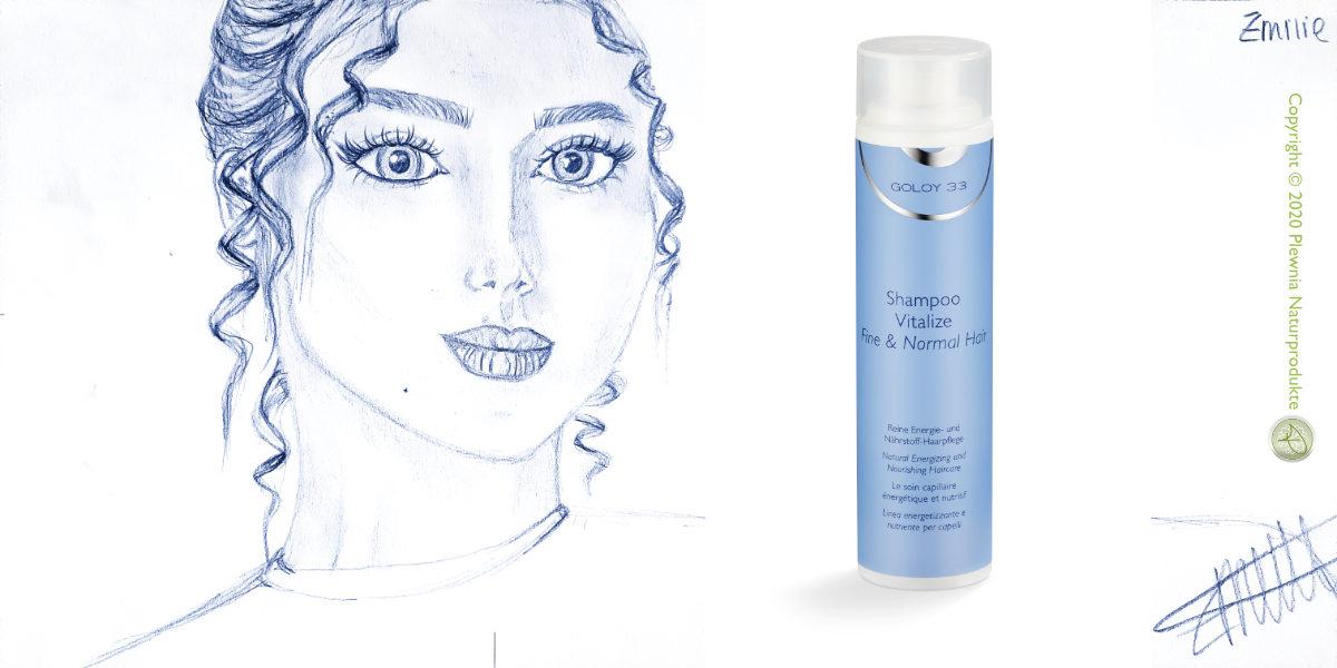 Haarwaschmittel - GOLOY 33 - Shampoo Vitalize - Fine & Normal Hair - Copyright © 2020 Plewnia Naturprodukte