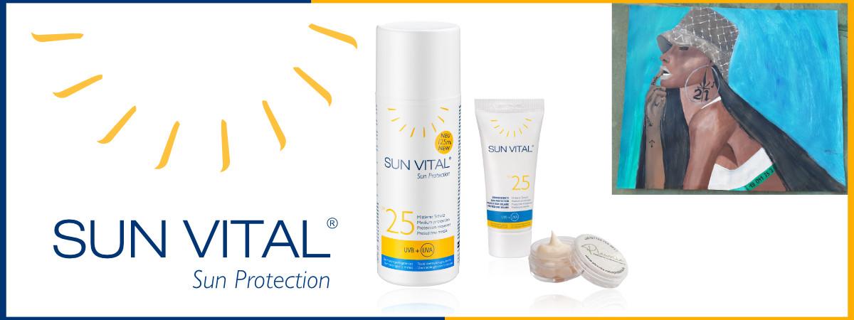 Sie sehen Kunst & Sun Vital Sonnenschutz inkl. liebevoll abgefülltem Mini Döschen. Copyright © 2020 • Plewnia Naturprodukte.